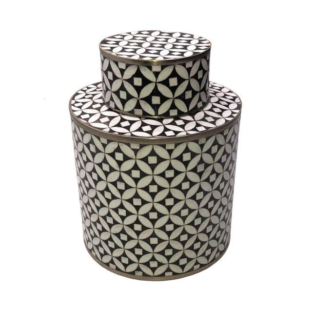 Geometric Fabienne Jouvin Tea Jar Canister For Sale In Dallas - Image 6 of 6