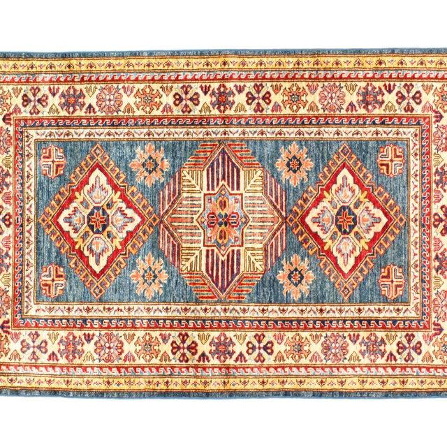 """Pasargad N Y Super Kazak Lamb's Wool Rug - 3'2"""" X 5' For Sale - Image 4 of 5"""