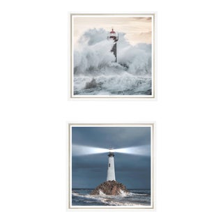 "Trowbridge Giclees ""Ray of Light"" & ""Crashing Waves"" Pair For Sale"
