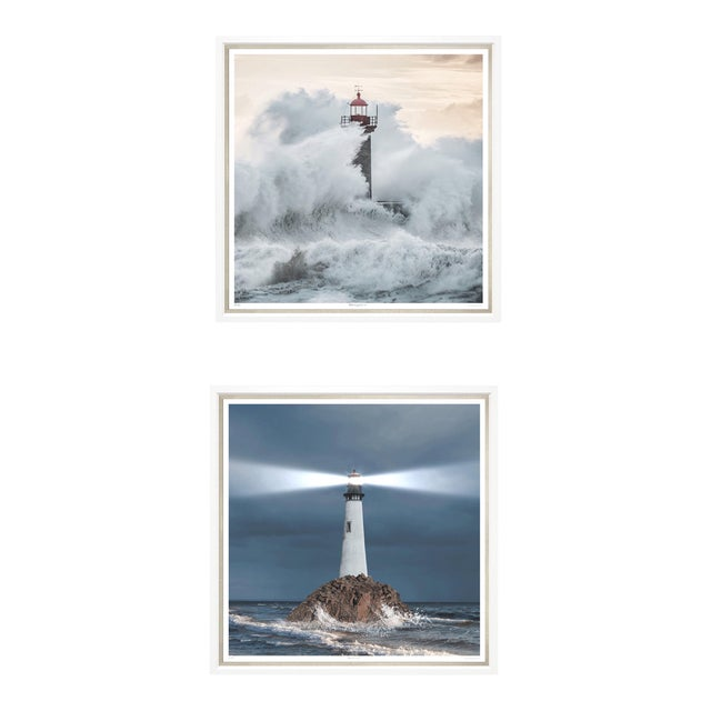 "Trowbridge Giclees ""Ray of Light"" & ""Crashing Waves"" Pair For Sale"