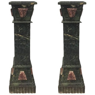 Marble Pedestals - a Pair For Sale