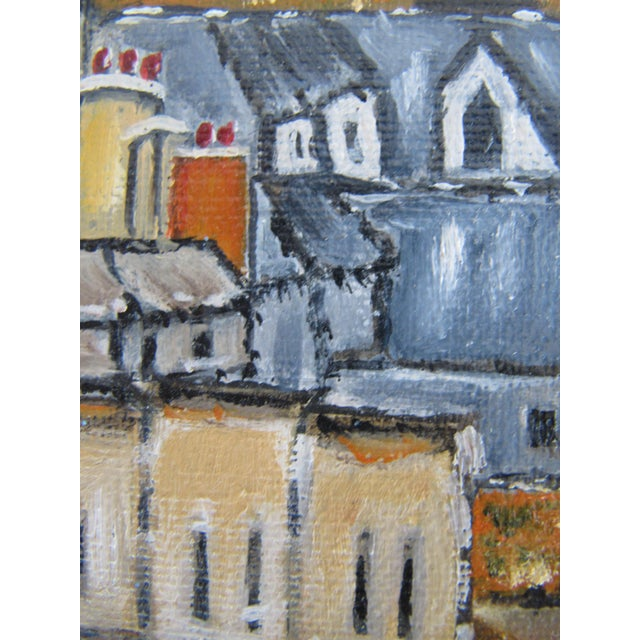 Vintage Painting of European Cathedral For Sale - Image 5 of 7