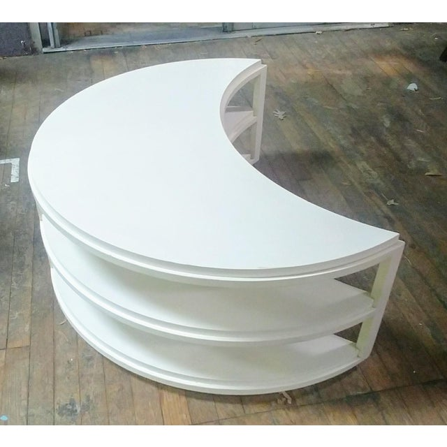 Wood Henredon Furniture White Dove Crescent Occasional Table For Sale - Image 7 of 7