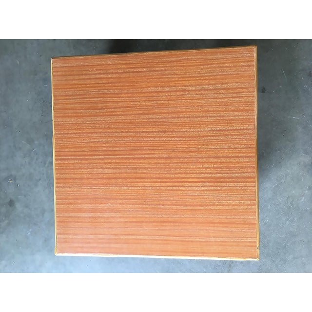 Wicker Extra Wide Rattan Coffee Table With Formica Top For Sale - Image 7 of 8