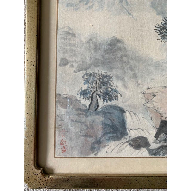 Early 20th Century Antique Landscape Watercolor Paintings - Set of 4 For Sale In New York - Image 6 of 10