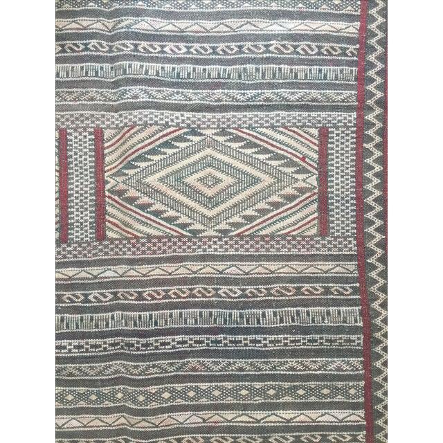 Moroccan Flatweave Kilim - 6′ × 8′2″ - Image 4 of 7