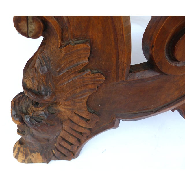 19th Century Italian Carved Baroque Sgabe Chair - Image 8 of 10