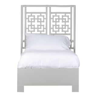 Palm Springs Bed Twin - Light Gray For Sale