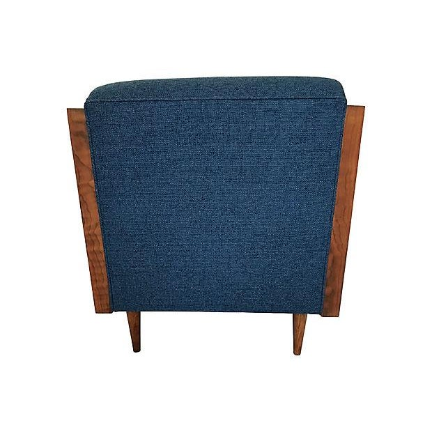 Blue Mid-Century Lounge Chair - Image 4 of 8