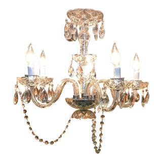 Late 20th Century Vintage Crystal Chandelier For Sale
