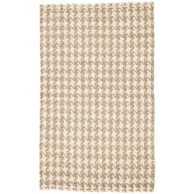 Jaipur Living Tracie Natural Geometric White/ Taupe Area Rug - 9′ × 12′ For Sale