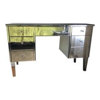 Modern Etched Mirrored Desk