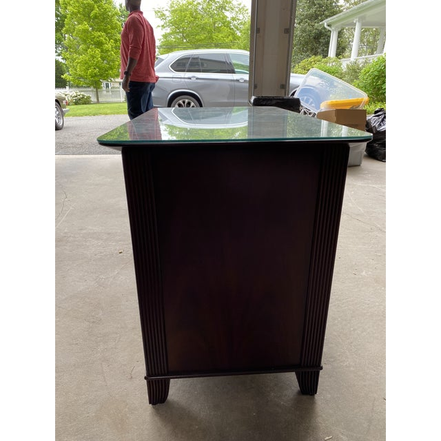 Transitional Sligh Mahogany File Cabinet For Sale - Image 3 of 8