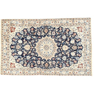 "Vintage Persian Genuine Nain Area Rug - 5'10"" X 3'7"" For Sale"
