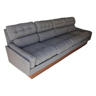 Danish Modern Teak & Gray Tweed Couch Preview