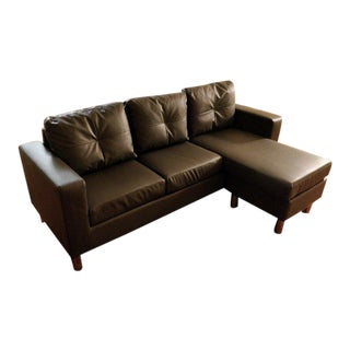 Modern Braxton Small Space Convertible Sectional For Sale