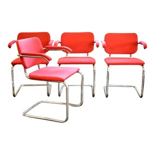 1960s Mid-Century Cesca Chairs by Knoll - Set of 4 For Sale
