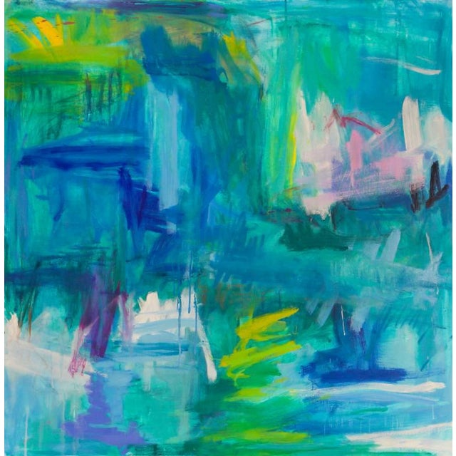 """Large Abstract Painting by Trixie Pitts """"Reflections"""" For Sale - Image 9 of 9"""