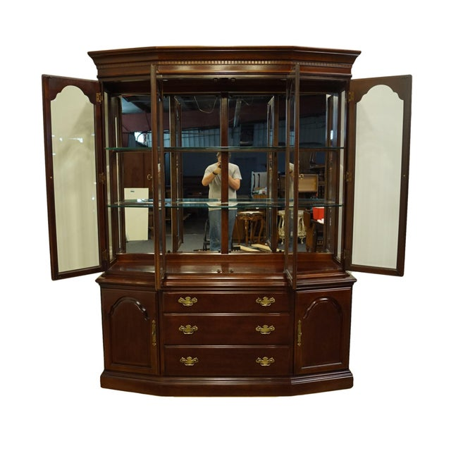 Bernhardt Bernhardt Furniture Traditional Solid Cherry China Cabinet For Sale - Image 4 of 12