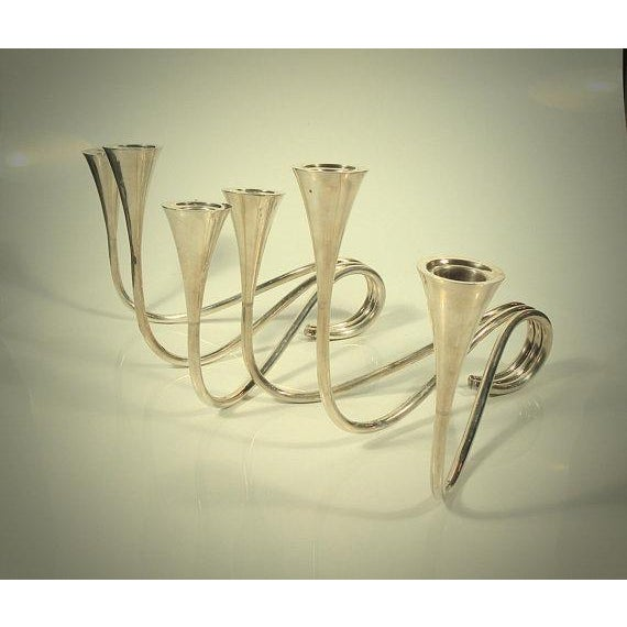 1960s 1960s Vintage K. Uyeda Sterling Silver Candle Sticks - a Pair For Sale - Image 5 of 8