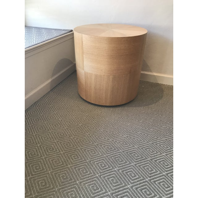 Custom Round Wood Drum Table - Image 6 of 6