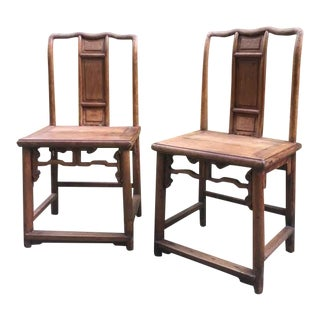 Antique Dengguayi Chinese Country-Style Side Chairs - a Pair For Sale