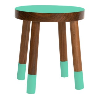 Poco Kids Chair in Walnut With Mint Finish For Sale