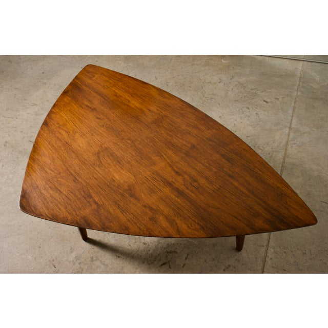 Erwin Lambeth 1960s Mid-Century Modern Erwin Lambeth Walnut Coffee Table For Sale - Image 4 of 10