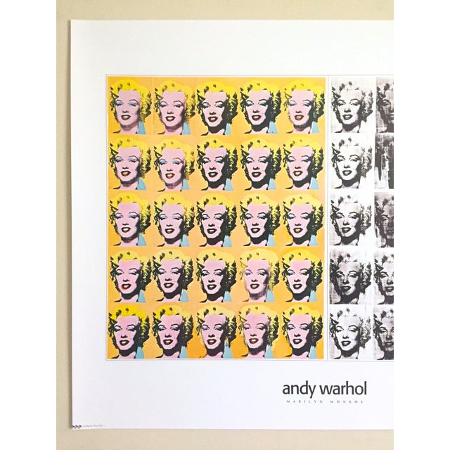 "This Andy Warhol rare out of print vintage 1995 "" Marilyn Diptych "" 1962 offset lithograph print Pop Art poster is a very..."
