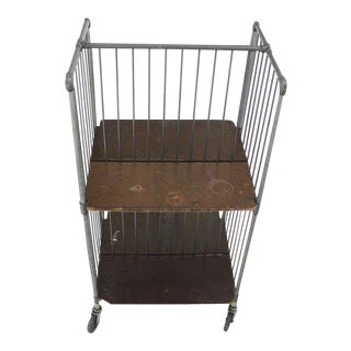 Mid-Century Modern Cart Rack With Storage Shelves For Sale