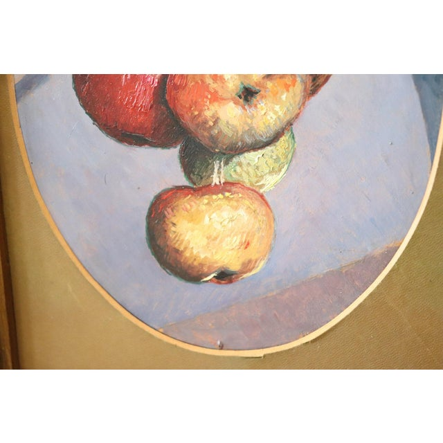 Illustration 20th Century Italian Oil Painting on Wood Panel by Valentino Ghiglia For Sale - Image 3 of 7