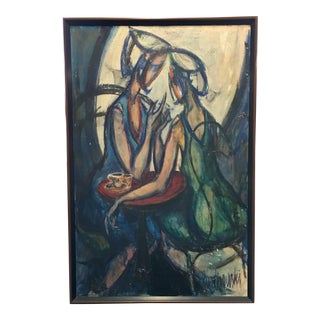 Abstract Women Figural Portrait Painting