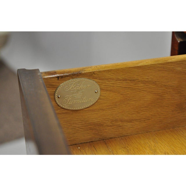 Baker Banded Mahogany Dropleaf Hall or Sofa Table For Sale - Image 10 of 13