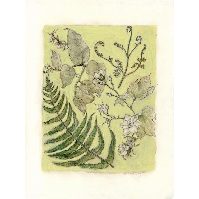 """""""Northwest Botanical III"""" Mixed Media Original Painting For Sale In Seattle - Image 6 of 6"""
