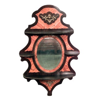 French Victorian Rosewood Wall Shelf For Sale