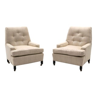 Dunbar Lounge Chairs Model 5484 Designed by Edward Wormley - a Pair For Sale