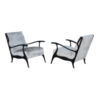 1950s Italian Lounge Chairs in the Style of Orlando Orlandi - A Pair For Sale