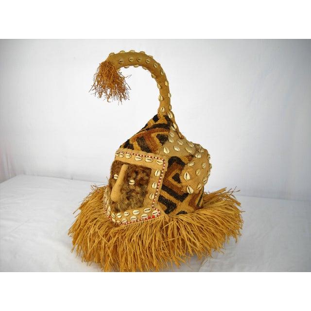 Kuba Mukenga Moshambwooy African Helmet For Sale - Image 9 of 9