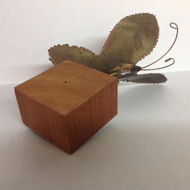 Brass Brutalist Butterfly Sculpture - Image 6 of 6