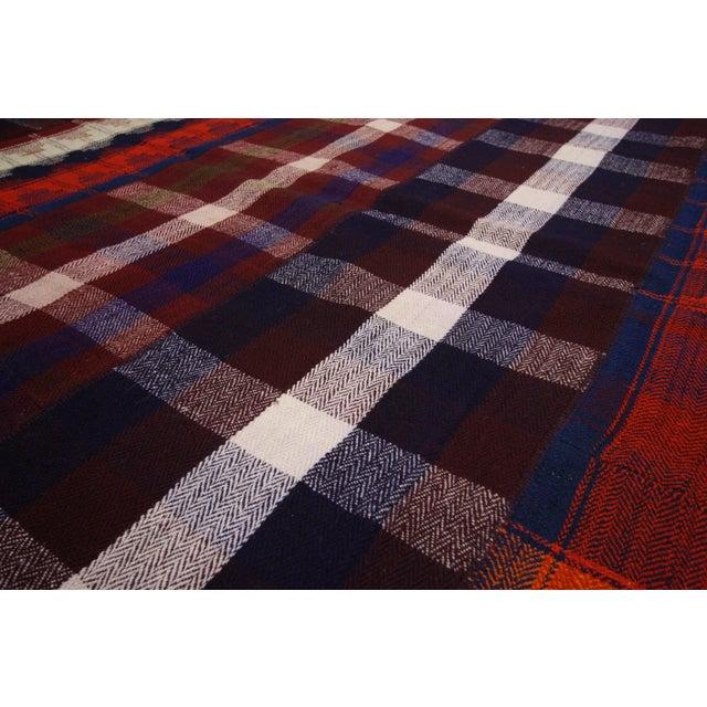 Black Forest Vintage Tartan Plaid Area Rug - 8′10″ × 11′3″ For Sale - Image 3 of 6