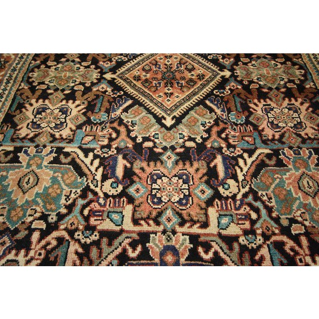 Mid 20th Century Vintage Mid-Century Persian Mahal Rug - 4′1″ × 6′7″ For Sale - Image 5 of 8