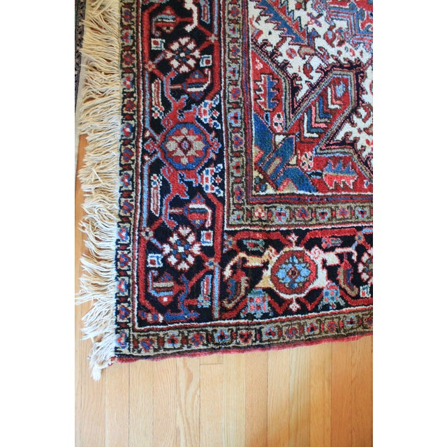 "Islamic Vintage Persian Heriz Rug - 6'7"" x 9'7"" For Sale - Image 3 of 6"