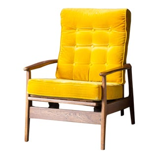Mid-Century Yellow Rocker For Sale