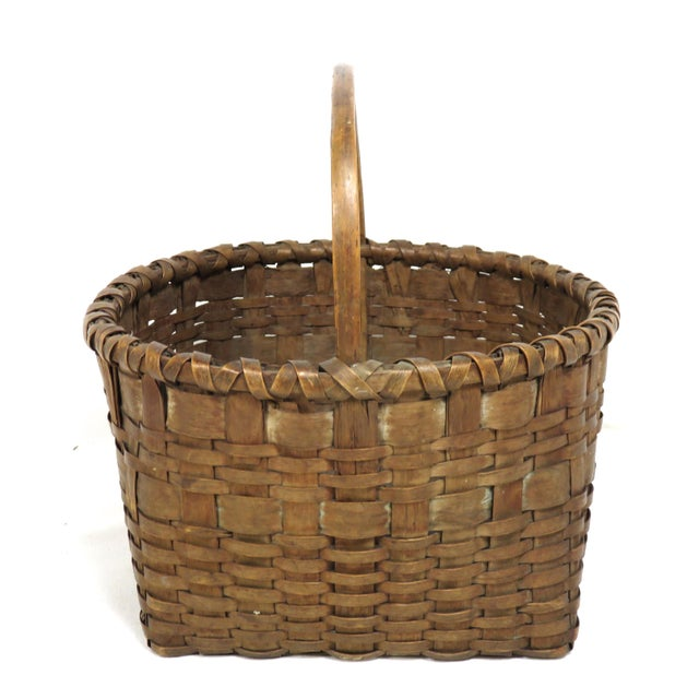 Americana 20th Century Rustic Maine Woven Basket For Sale - Image 3 of 13