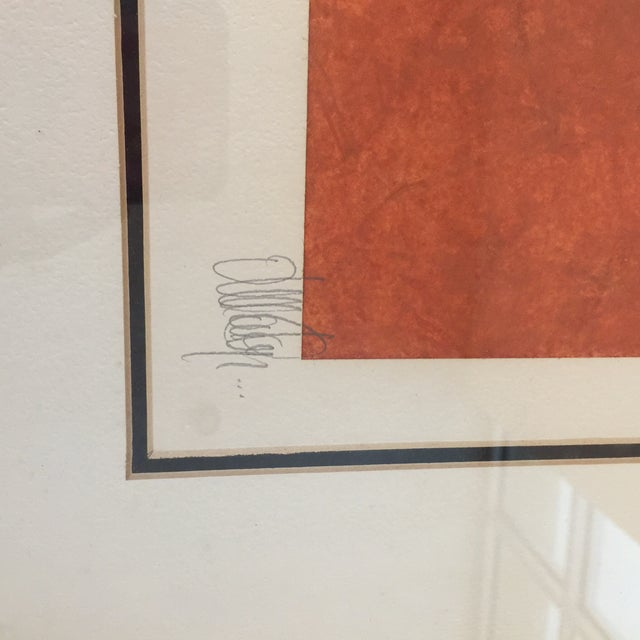 """""""Butterfly"""" Orange & Red Serigraphs - A Pair For Sale In San Antonio - Image 6 of 11"""
