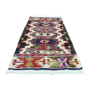 Late 20th Century Anatolia Konia Kilim Small Rug For Sale