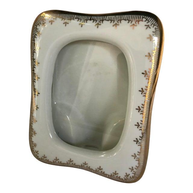 Vintage Japanese Gilt Porcelain Picture Frame For Sale