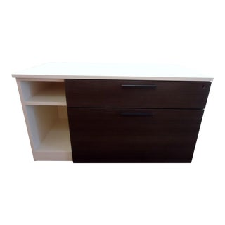 Contemporary Herman Miller Low Credenza With Two Drawers and Open Cabinet