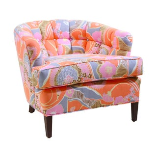 Vintage Revamped Floral Lena Accent Chair