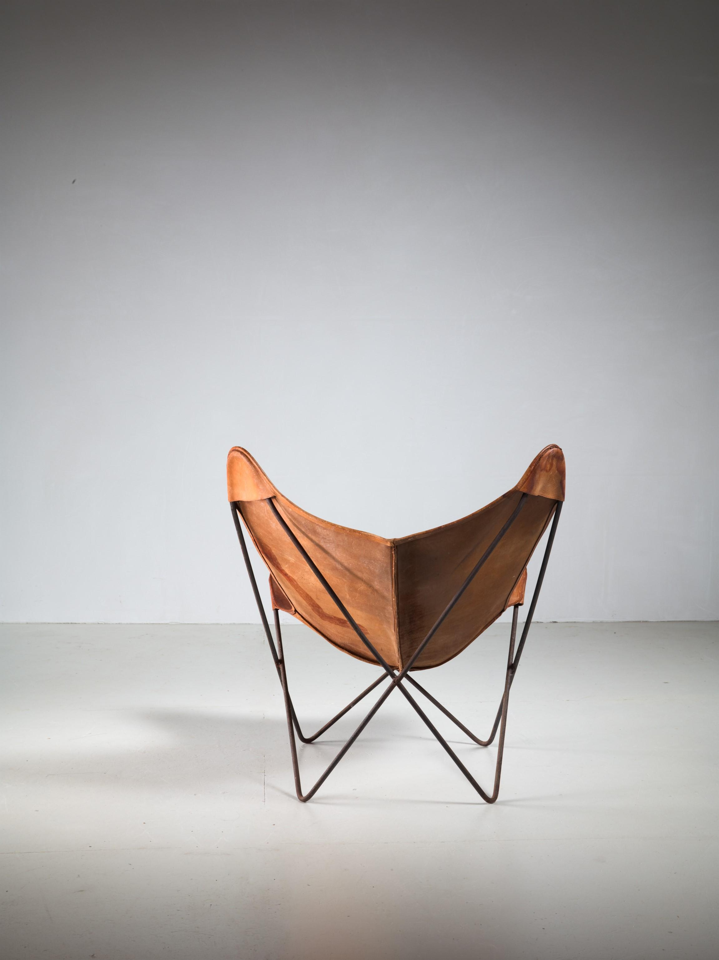 Beautiful Jorge Ferrari Hardoy Butterfly Chair For Knoll, 1950s   Image 4 Of 4
